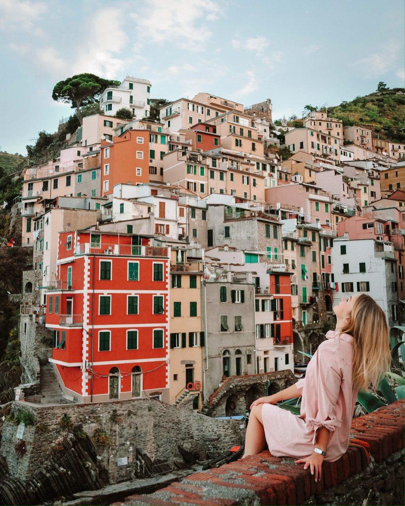 Instagram spot in Riomaggiore, Cinque Terre, Italy