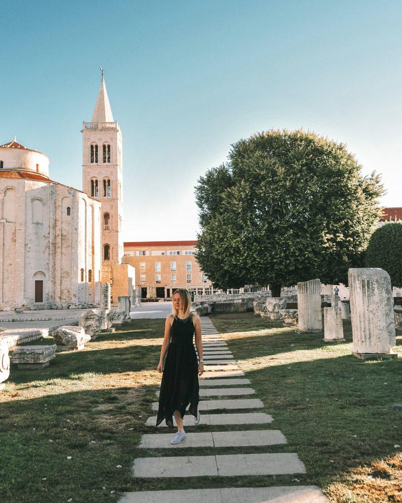 Roman Forum in Zadar, Croatia