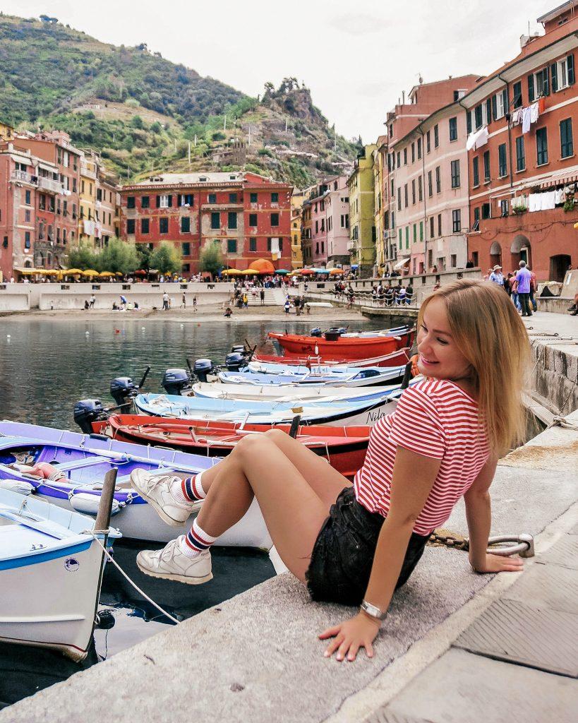 Harbour in Vernazza, Cinque Terre, Italy